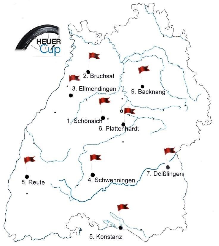 Die Veranstaltungsorte des HEUER-Cup 2018